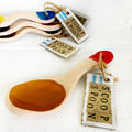 Ceramic Scoop Spoon, Brown and Red