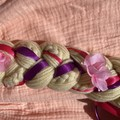 Rapunzel Inspired Yarn Wig- Deluxe Faux Flowers