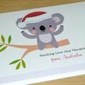 Merry Christmas card - Koala - Sending love from Australia