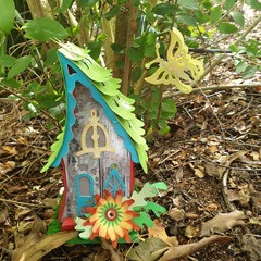 BUTTERFLY FAIRY HOUSE LUMINARY AND GIFT BOX