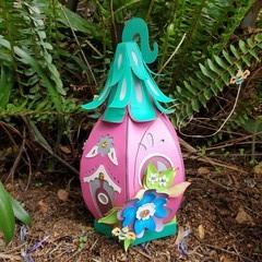 HONEY BEE FAIRY HOUSE LUMINARY AND GIFT BOX