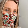 Cotton Face Mask ~ Christmas Bubble O'Bill ~ 3 layers