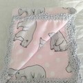 Handmade Baby Pram/Cot Blanket Flannelette