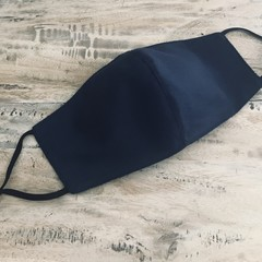 Face Mask 3 Layers - reusable  *Navy* washable Australia made with filter pocket