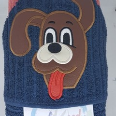 Singing Dog Hooded Towel