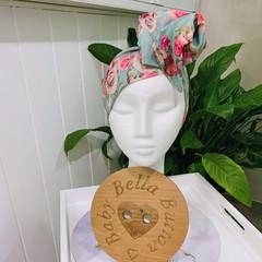 Wire Headband - Aqua Floral