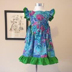 'Vibrant Floral' - dress size 3