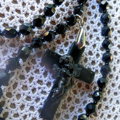 Cross with Cupid necklace