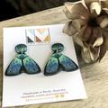 Magical Moth Collection - Teal Moth 01 Stud Dangle
