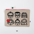 Screen Printed People - Cotton Canvas Zipper Pouch • W24 x H16.5