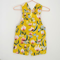 Floral stretch harem rompers, mustard overalls newborn to 4 years