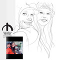 Couples | families  -head and shoulder portrait - line drawing