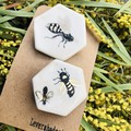 Two Bee 🐝 brooches