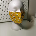 Washable facemask. Cute bees pattern. Yellow.