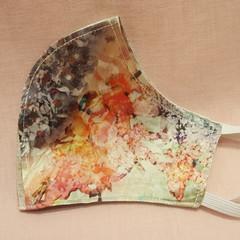 Gorgeous unique 100% Silk watercolour floral print fully reversible. Reusable, H
