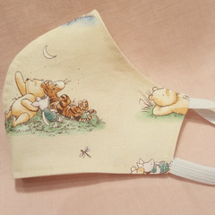 Delightful Winnie Print  -  Reusable and Washable Fabric Face Mask ****Shipping