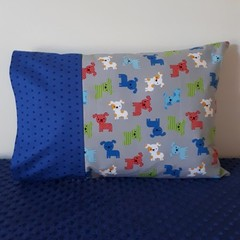 ZOOLOGIE PUPPIES  PILLOWCASE/INNER FLAP/FITS TODDLER PILLOW/35CM X 50CM