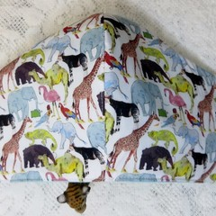 Face Mask - 3 layers, Liberty Fabric. Washable. Que for the Zoo