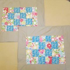 Pair of Patchwork Cushion Covers - Zip Free Style 2