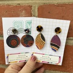 Australian dot art earrings