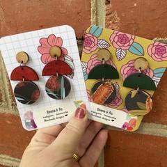 Australian flora earrings 2