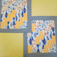 Pair of Patchwork Cushion Covers - Zip Free Style 1
