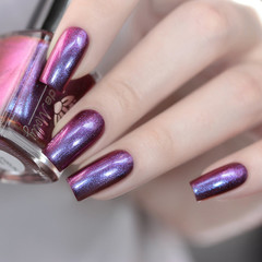 """Nail polish - """"Overrun"""" A purple base with blue / purple / red shimmer."""