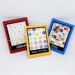 Gift Card Trio Primary Colours