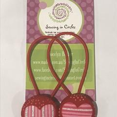 Love hearts hair ties