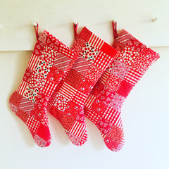 Christmas stocking patchwork