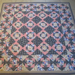 Diamond Themed Patchwork Bed Spread