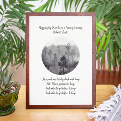 "Robert Frost Literature Print, ""Stopping by Woods..."" Unframed Print"