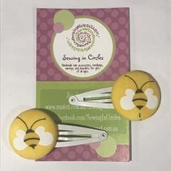 Buzzy bees hair clips