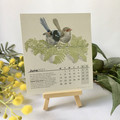 2021 Desk Calendar with stand Australian Wildlife artworks. Recycled paper Wood