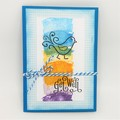Get Well Card - Colourful - Chirpy bird