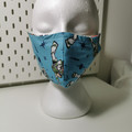 Triple layer cotton facemask. Kids size. Toy Story 'Buzz' pattern.