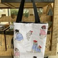 French Kitty Foldup Shopping Bag