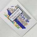 Get Well Card - Washi in Blues
