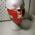 Washable facemask. Japanese cranes pattern.