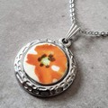 Orange Poppy Pendant
