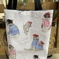 French Kitty Foldup Shopping Bag