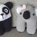 Handmade  Crochet Panda & Koala Soft Amigurumi
