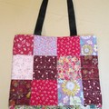 Colourful Patchwork Tote Bag