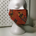 Triple layer cotton facemask. Egyptian mummy pattern.