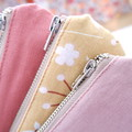Half Moon Jewellery Pouch - Rustic Floral/Blush Linen