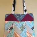 Reversible Patchwork Tote Bag