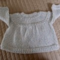 SIZE New born - 3 mths Hand knitted cardigan in multi colour, girl,  washable