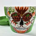 Chilli Sugar Skull Pots - 2 Sizes Available - Choice of colour