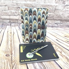 Abstract gray/brown waves  Fabric Notebook Cover