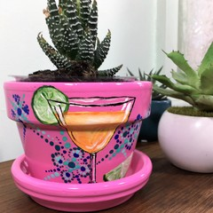 Cocktail Pots - 2 Sizes available - Choice of colours